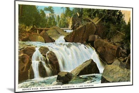 Beaver River, Lake Superior, Minnesota--Mounted Art Print