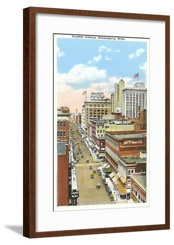 Nicollet Avenue, Minneapolis, Minnesota--Framed Art Print