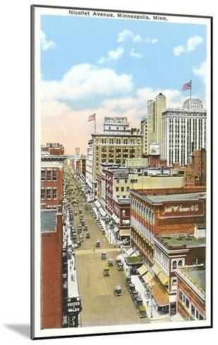Nicollet Avenue, Minneapolis, Minnesota--Mounted Art Print