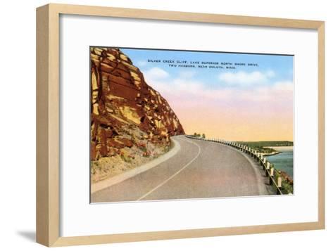 Silver Creek Cliff, Duluth, Minnesota--Framed Art Print