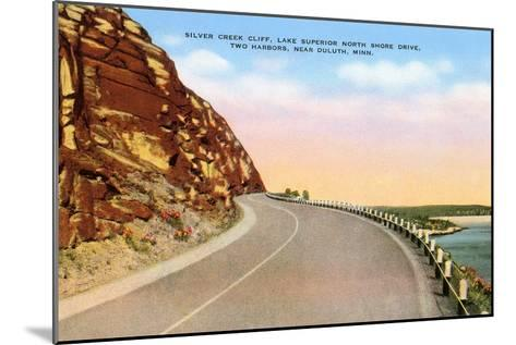 Silver Creek Cliff, Duluth, Minnesota--Mounted Art Print