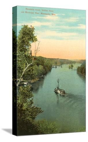 Minnehaha Creek, Minneapolis, Minnesota--Stretched Canvas Print