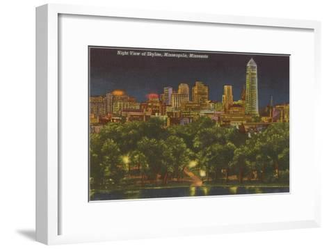Night, Minneapolis, Minnesota--Framed Art Print