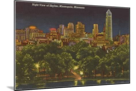 Night, Minneapolis, Minnesota--Mounted Art Print