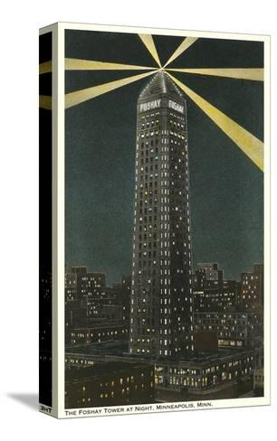 Night, Foshay Tower, Minneapolis, Minnesota--Stretched Canvas Print