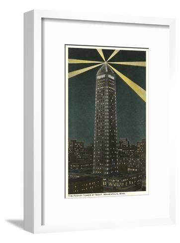 Night, Foshay Tower, Minneapolis, Minnesota--Framed Art Print