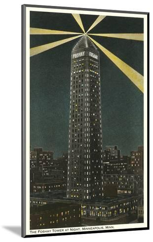 Night, Foshay Tower, Minneapolis, Minnesota--Mounted Art Print