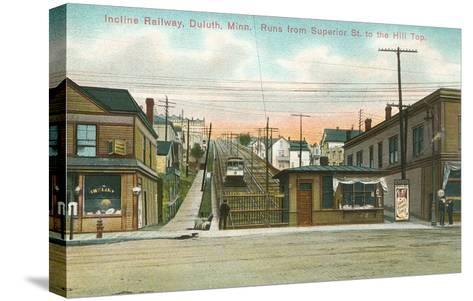 Incline Railway, Duluth, Minnesota--Stretched Canvas Print