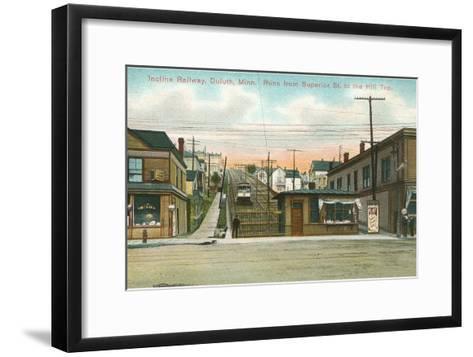Incline Railway, Duluth, Minnesota--Framed Art Print