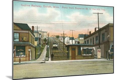 Incline Railway, Duluth, Minnesota--Mounted Art Print