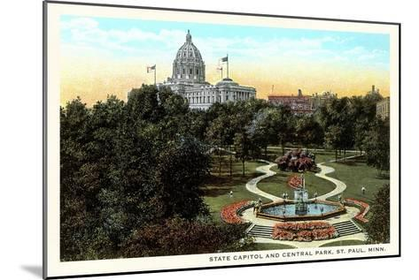 State Capitol and Park, St. Paul, Minnesota--Mounted Art Print
