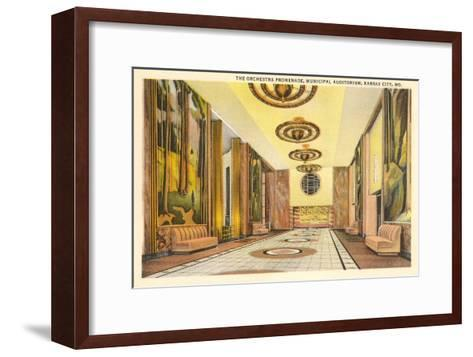 Municipal Auditorium, Kansas City, Missouri--Framed Art Print