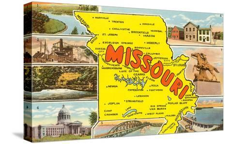 Map of Missouri--Stretched Canvas Print
