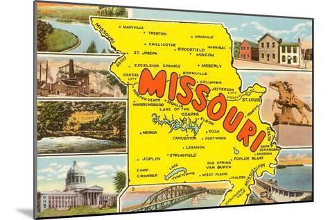 Map of Missouri--Mounted Art Print