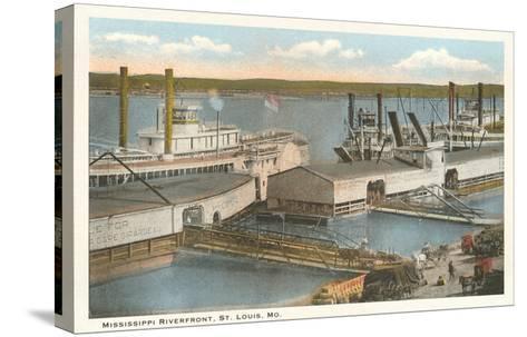Mississippi Riverfront, St. Louis, Missouri--Stretched Canvas Print