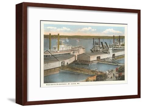 Mississippi Riverfront, St. Louis, Missouri--Framed Art Print