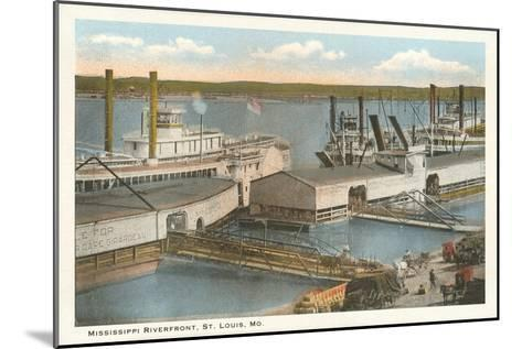 Mississippi Riverfront, St. Louis, Missouri--Mounted Art Print