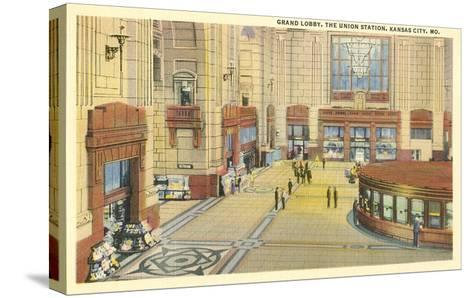 Grand Lobby, Union Station, Kansas City, Missouri--Stretched Canvas Print