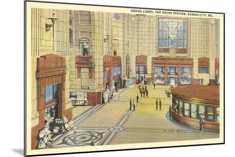 Grand Lobby, Union Station, Kansas City, Missouri--Mounted Art Print