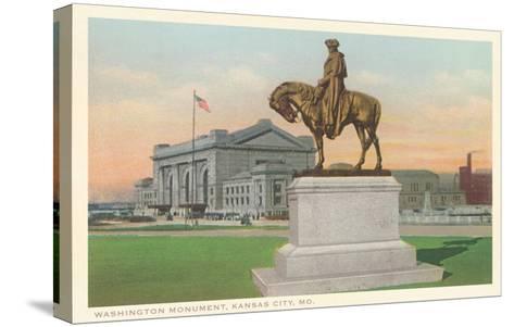 Washington Statue, Kansas City, Missouri--Stretched Canvas Print