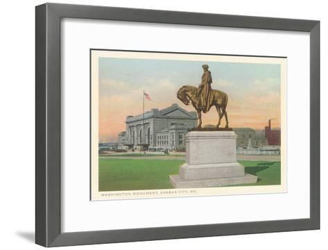 Washington Statue, Kansas City, Missouri--Framed Art Print