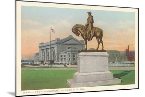Washington Statue, Kansas City, Missouri--Mounted Art Print