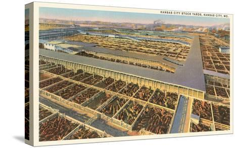 Stockyards, Kansas City, Missouri--Stretched Canvas Print