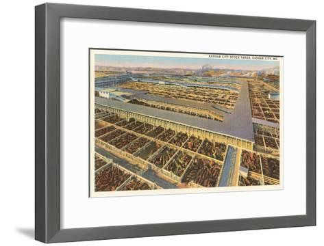 Stockyards, Kansas City, Missouri--Framed Art Print