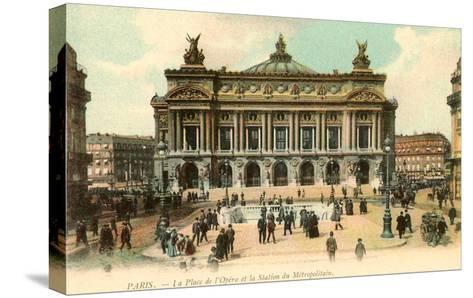 Paris Opera House, France--Stretched Canvas Print