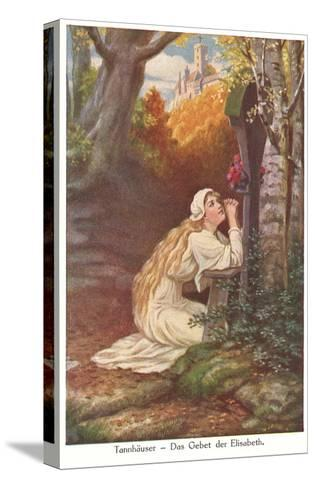 Scene from Tannhauser, Elizabeth's Prayer--Stretched Canvas Print