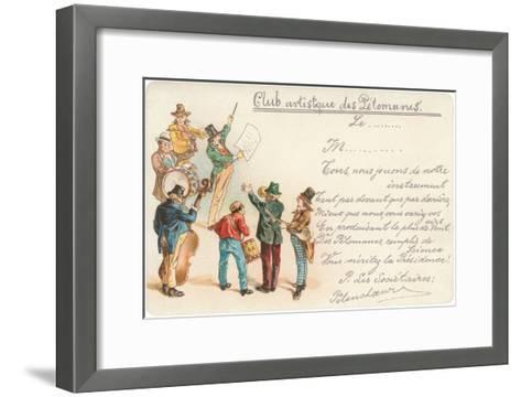 Artistic Old Farts Club, French Musicians--Framed Art Print