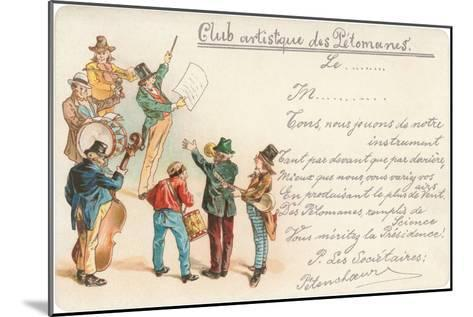 Artistic Old Farts Club, French Musicians--Mounted Art Print