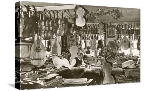 Photo of Luthier's Workshop--Stretched Canvas Print