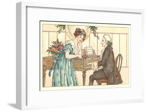 Romance at the Clavier--Framed Art Print