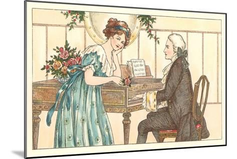 Romance at the Clavier--Mounted Art Print