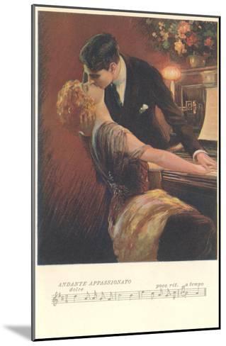 Romance at the Piano--Mounted Art Print