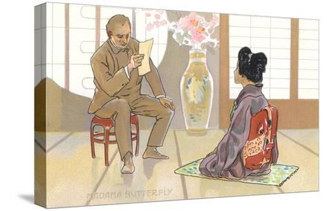 Scene from Madame Butterfly--Stretched Canvas Print