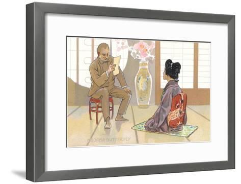 Scene from Madame Butterfly--Framed Art Print