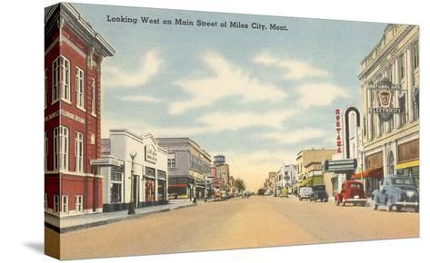 Main Street, Miles City, Montana--Stretched Canvas Print