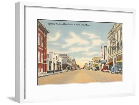 Main Street, Miles City, Montana--Framed Art Print