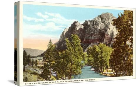 Sheep Rock, Gallatin Canyon, Montana--Stretched Canvas Print