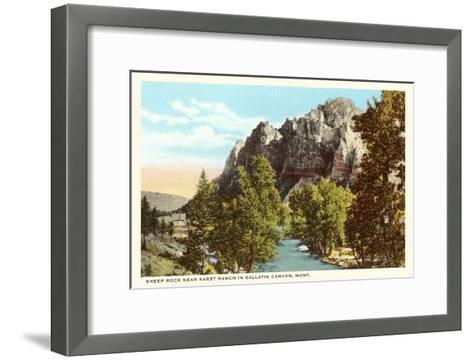 Sheep Rock, Gallatin Canyon, Montana--Framed Art Print