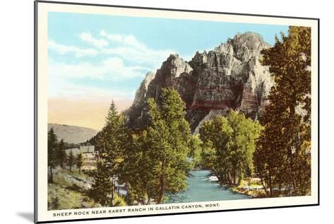 Sheep Rock, Gallatin Canyon, Montana--Mounted Art Print