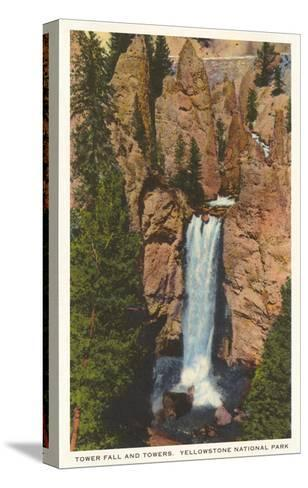 Tower Fall, Yellowstone Park, Montana--Stretched Canvas Print