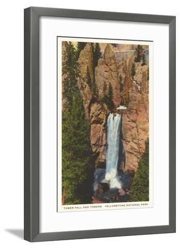 Tower Fall, Yellowstone Park, Montana--Framed Art Print