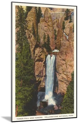 Tower Fall, Yellowstone Park, Montana--Mounted Art Print