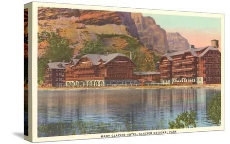 Many Glacier Hotel, Glacier Park, Montana--Stretched Canvas Print