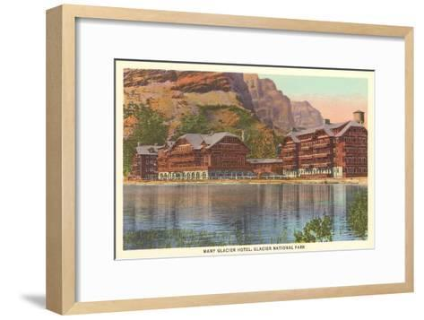 Many Glacier Hotel, Glacier Park, Montana--Framed Art Print