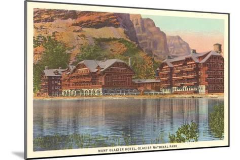 Many Glacier Hotel, Glacier Park, Montana--Mounted Art Print