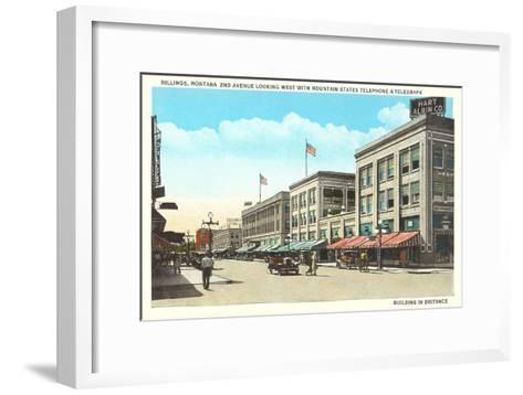 Downtown Billings, Montana--Framed Art Print